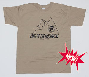 NEW! BEEMER GS TShirt sand GS KING OF THE MOUNTAINS
